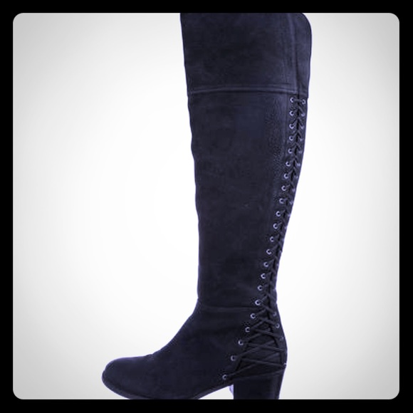 aad61c2baeeb Vince Camuto black over the knee boot. M 5b32f684619745fd53108d1a